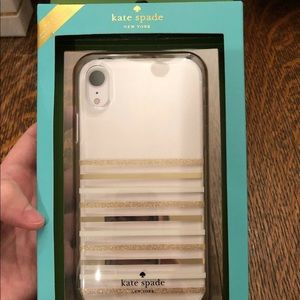 Kate Spade New York IPhone XR phone case NWT gold